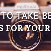 How to take pictures for your website